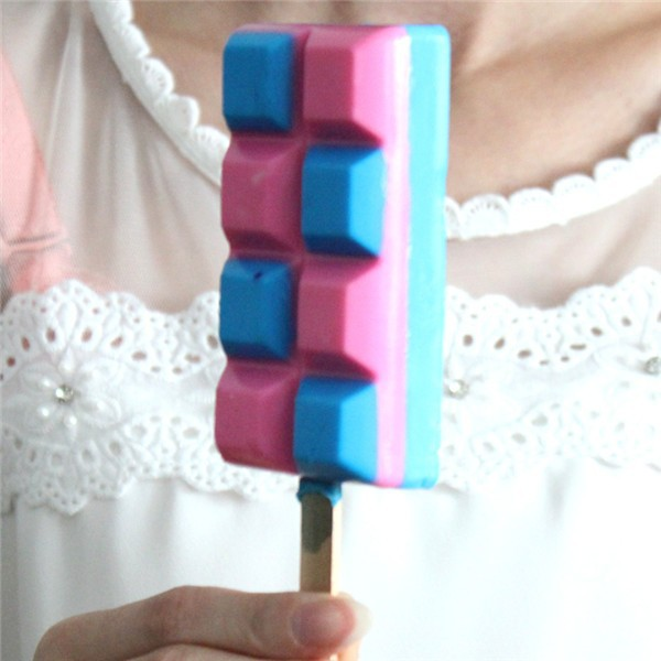 High Quality Handmade Silicone Ice Cream Bar Molds With Sticks