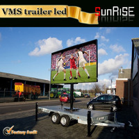outdoor single/full color moving mobile truck/trailer/scooter double sides led display (3G/GPRS wireless system)