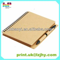 Alibaba China Manufacture Cheap Wire-O Bound Book with Pen Printing