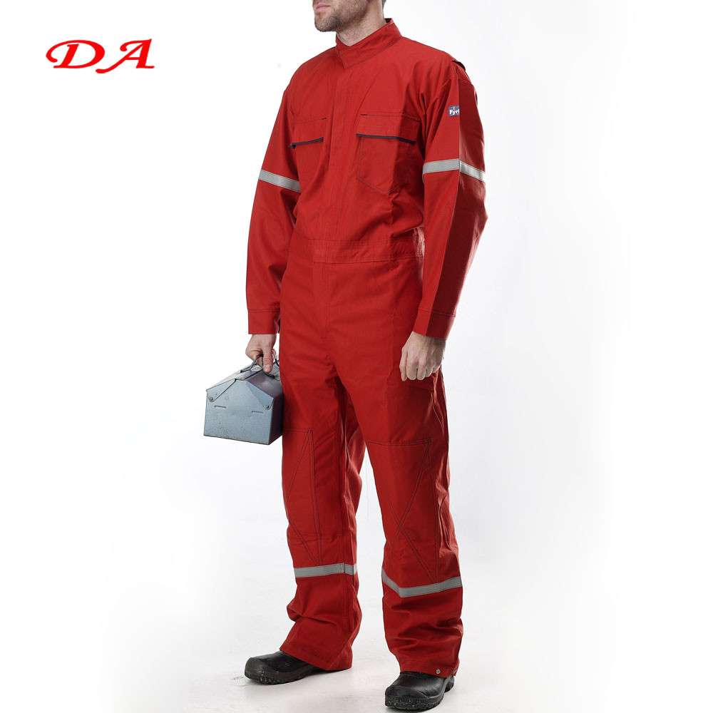 Orange Color Custom Made Mechanic Coveralls