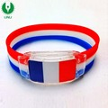 Outdoor Sports National Flag Led Light Wrist band With Custom Logo