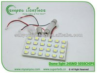 Dome light 24smd 5050chips T10,ba9s,festoon sockets