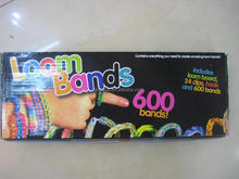 New design paper box packing loom band ruber band EN71