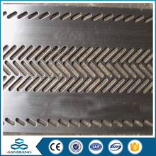 cheap oblong hole perforated metal mesh/aluminum sheet