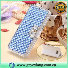 New Bling Shine Diamond Flip Leather Back Cover For HTC One M8 Case