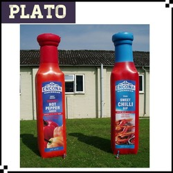 Advertising inflatable Ketchup bottle model for promotion