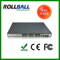 Competitive price 24 port 15.4W each poe port fiber optic ethernet switch
