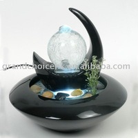 Tabletop Water Feature With White LED Lights