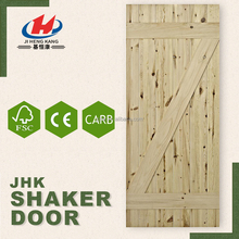 JHK-SK07 Hot Sale Low Cost Wood Panel Barn Shaker Door House Sliding Gates