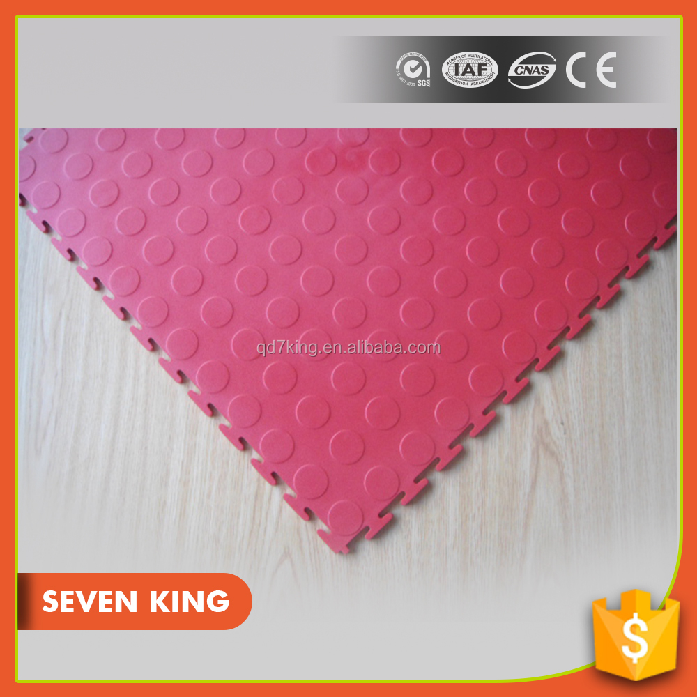 Qingdao 7king wear resistant thin plastic pvc covering floor sheet tile mat with high density