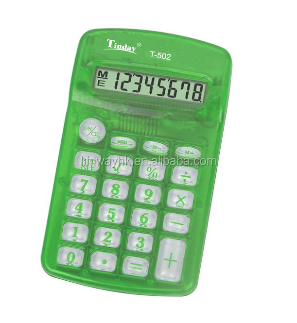the cheapest model AA battery mini 8 digits pocket calculator