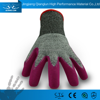 QL High dexterity anti-cut fabric cut and acid resistant protective gloves