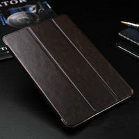 2013 New igh quality fashion retro crazy horse book style leather case for ipad mini