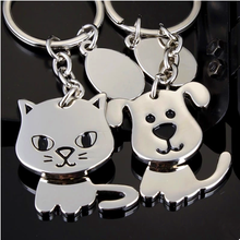 stainless steel key ring, dog/ cat shape key chain as gift