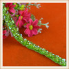 wholesale elegant design green color decoration sequin and beads lace for dresses