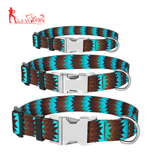 Pet products metal side release buckle collar for small medium large dogs
