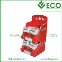 Red 2 Layers Napkin Corrugated Display Stand Wholesale