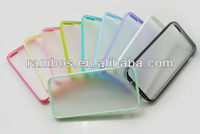 Transparent PC + TPU Case Matte Bumper case Clear Bumper case for iPhone 5