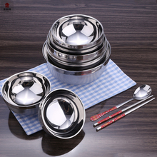 Hot Sales Low Cost Heat Resistant Small Double Layers Stainless Steel Bowl