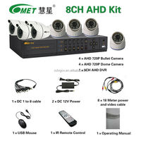 8 Channel 1.3mp Home Security Camera DVR Kit Indoor Outdoor 8CH CCTV AHD Kit
