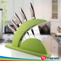 new kitchen designs knife block set, acrylic stand