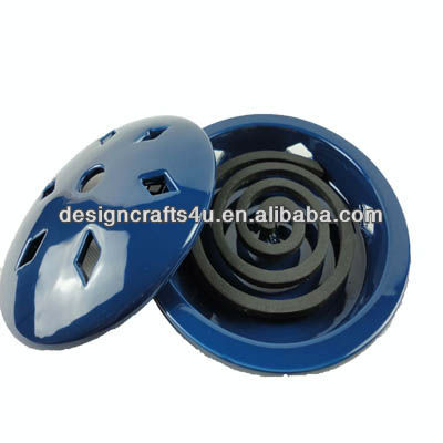 Dark Blue Ceramic Wholesale Mosquito Coil Holder
