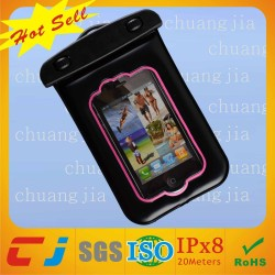 2014 waterproof mobile neck hanging phone bag for iphone 4