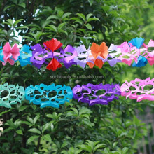 Colorful floral garland decoration for wedding