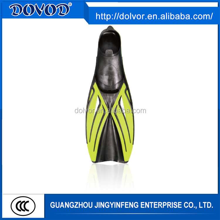 Water sports use various color diving equipment swimming swim fin