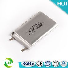 Rechargeable lipo battery 523450 3.7v 1000mah li-polymer battery for GPS DVD player