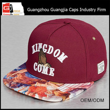 Guangjia Cap Manufacturer Wholesale Custom Selling Fashion Printed Embroidery Sexy Girls Snapback Hat