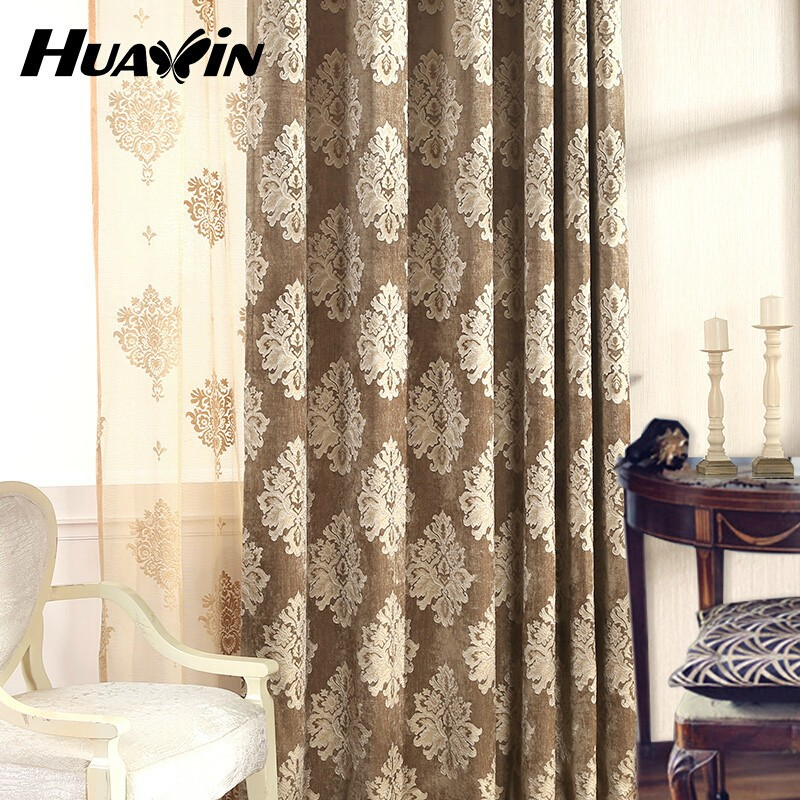 free sample 100% polyester chenille jacquard fabric for window curtain