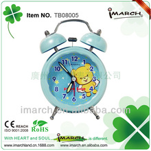 "2017 New arrival 3"" decorative& gift Twin Bell Alarm Clock for children"