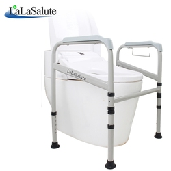 Adjustable toilet disabled handrail for aged people