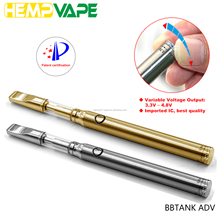 2017 BBTANK New design slim vape pen 350mah battery oil touch Pen 510 custom logo e cigarette battery