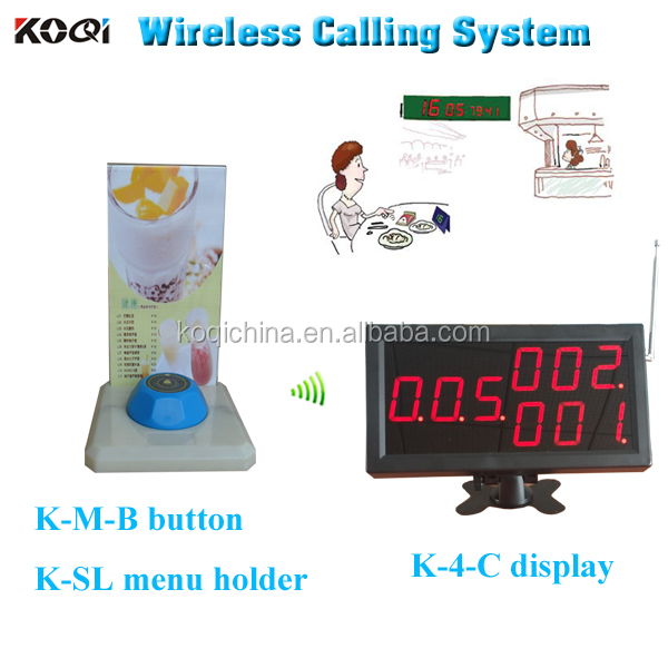 Restaurant calling system waiter caller to the hospital restaurant wireless call service menu button K-4-C+K-M+K-SL
