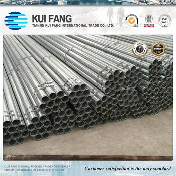 ASTM Standard Galvanized Gi Steel Pipe round section