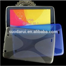 "For LG G Pad 10.1"" v700 Soft Gel X line TPU Case In stock"