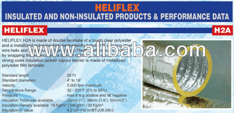 Heliflex Insulated Flexible Duct Model H2A