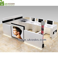 Modern and fashionable men hairdressing shopping mall kiosk, hair service shop furniture