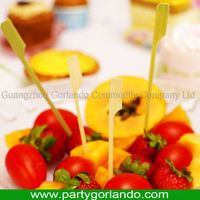 disposable party cocktail food bamboo gun skewers with handle