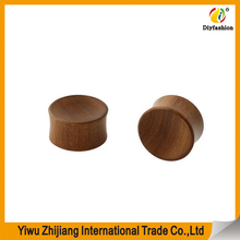 Concave Red Saba Wood Ear Plugs