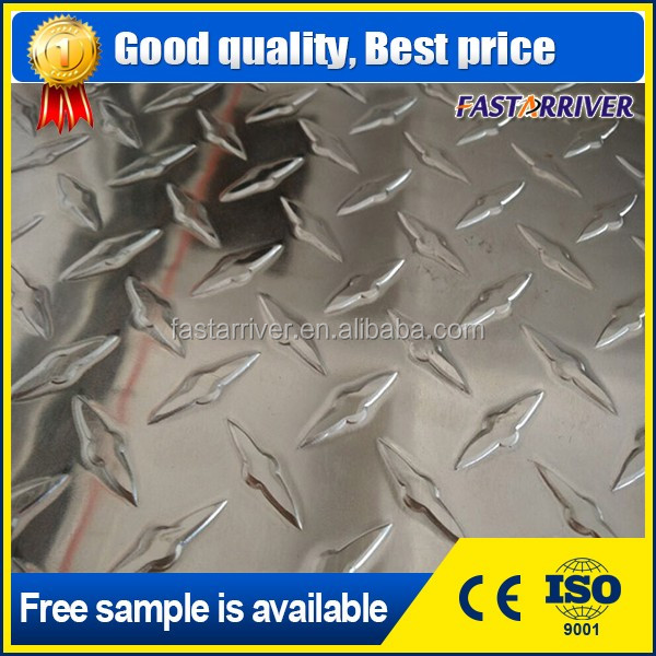 embossed aluminum 12mm diamond aluminum checkered sheet price