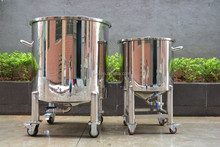 100L moveable water tank stainless steel storage tank