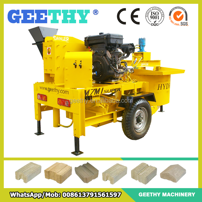 kenya distributors M7MI Super compress earth brick manufacturing machine