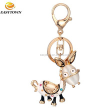 2015 Custom metal latest fashion key chains metal keychain donkey keyring machine to make keychains
