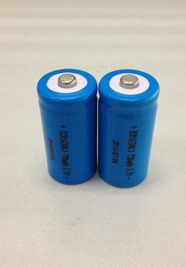 power cell batteries led torch 3.6v 750mah 16340 lithium ion cell