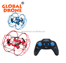 FY802 2.4G 4 Axis RC Quadcopter Climbing Wall UFO Drone with Net Protective Cover RTF