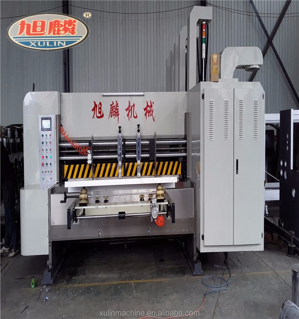 Automatic high speed 4 color corrugated carton flexo printing slotting die cutting machine