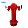 Wet type 3 way british fire hydrant with landing valve